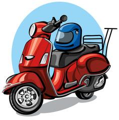 Keuken foto achterwand Motorfiets scooter