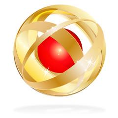 logo - kugel - goldeinfassung