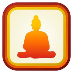 Buddha silhouette ilustration.