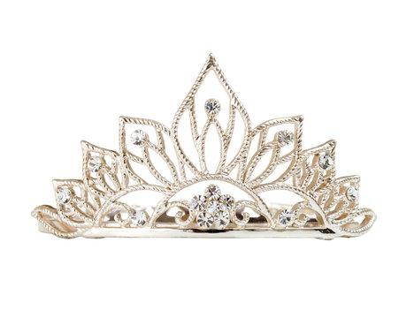Isolated tiara or diadem on white