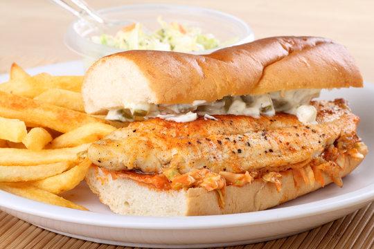 Catfish Fillet Sandwich