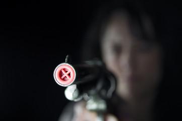 shooting toy gun