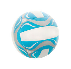 blue volleyball isolated on a white background