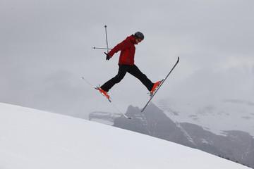 Skieur jump