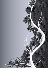 Gray grape pattern