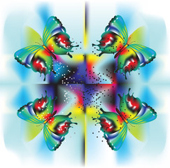 psychedelic butterflies background