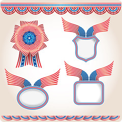Various USA flag products. Election utilities