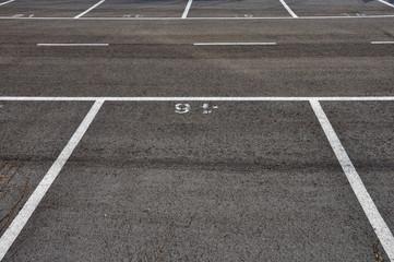 dividing lines asphalt paved parking lot