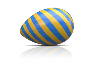 blue yellow easter egg