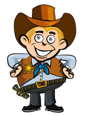 Stores à enrouleur Ouest sauvage Cute cartoon cowboy smiling