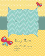 Greeting baby card