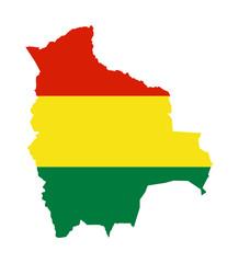 Fototapete - Bolivia map flag