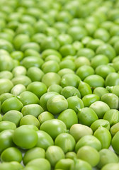 Fresh peas background
