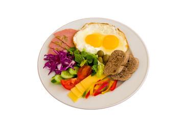 Breakfast in a plate