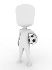 Man Carrying a Soccer Ball