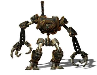 Steampunk Roboter aus der Zukunft