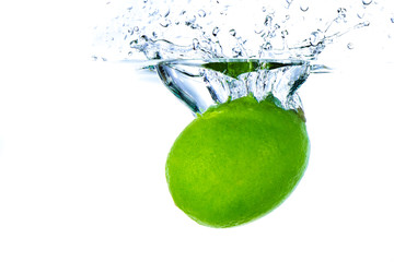 lime splashing