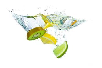 fruit splashing