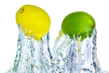 Printed roller blinds Splashing water citrus fruit splashing