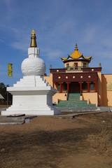 Buddhist Stupa-suburgans datsan in Ulan-Ude