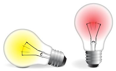 Two colorful Bulbs