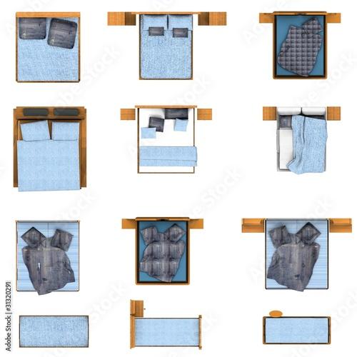 """""""floor plan, bedroom furniture set"""" Stock photo and ..."""