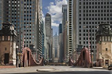 Photo sur Plexiglas Chicago Street of Chicago.