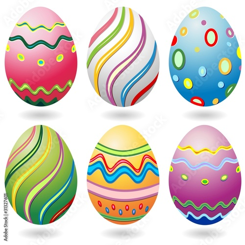 Uova di pasqua decorate ornamentale easter eggs vecor immagini e vettoriali royalty free su - Uova decorate per pasqua ...