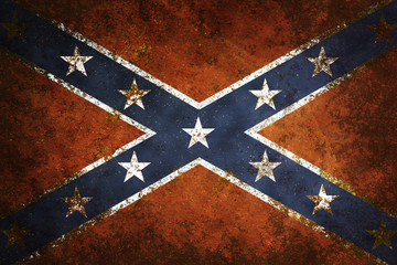 Vintage close-up of Confederate Flag
