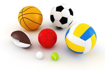 3d pack render - sport balls