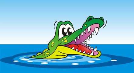 Crocodile with sharp Teeth