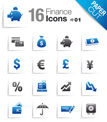 Paper Cut - Finance icons 01