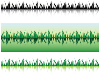 grass with shadow - illustration