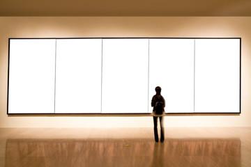 blank frame in art gallery