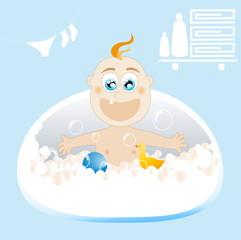 Baby Bath. Vector illustration