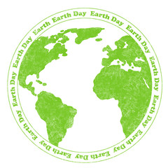 Earth Day Rubber Stamp