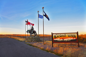 Reservation  blackfeet Indians