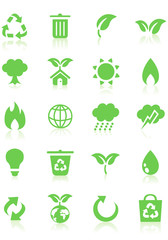 environment icons, buttons