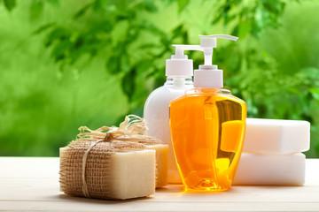 Obraz Soap - liquid and bars - fototapety do salonu