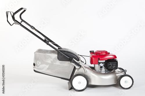 Tondeuse gazon rouge et aluminium pour gazon et pelouse for Tarif tondeuse a gazon