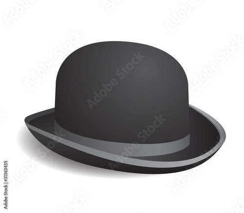 2f86fe2997dd7 Vintage bowler hat isolated on white