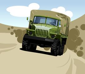 Fotorolgordijn Militair off-highway truck