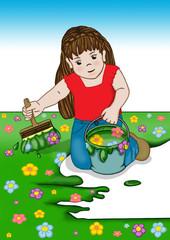 Springtime: piccola artista in erba