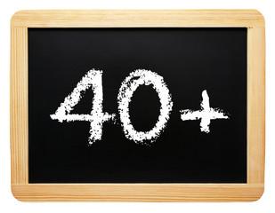40 plus - Konzept Tafel - freigestellt
