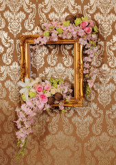 flower and frame