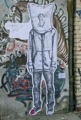Geld-Kopf Graffitizeichnung