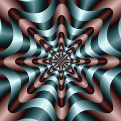 Wall Murals Psychedelic Circular Wave