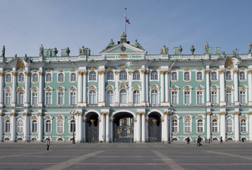Центральный вход Зимнего дворца. Санкт-Петербург.