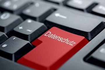 Datenschutz rote Taste
