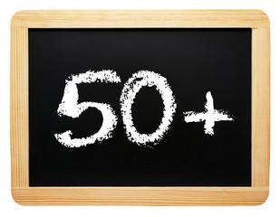 50 plus - Konzept Tafel - freigestellt